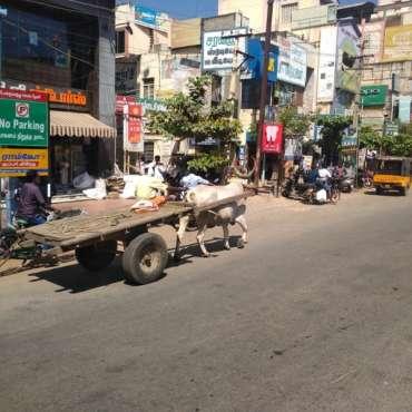 Ville sur la route de Madurai